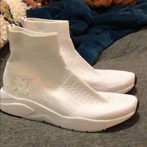 White sock sneakers
